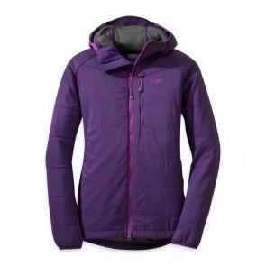 Outdoor Research Women's Uberlayer Hooded Jacket Elderberry-20