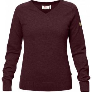 FjallRaven Sormland V-Neck Sweater W Dark Garnet-20