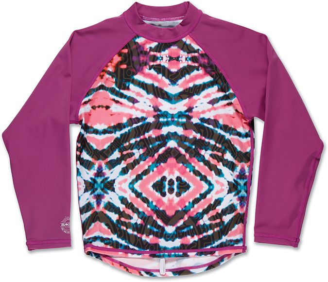 Dakine Girls Classic LS Rashguard Watermelon Burst-30