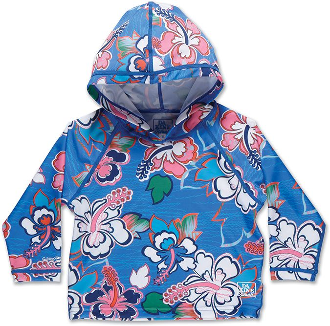 Dakine Girls Toddler Hoodie Ocean Flower-30