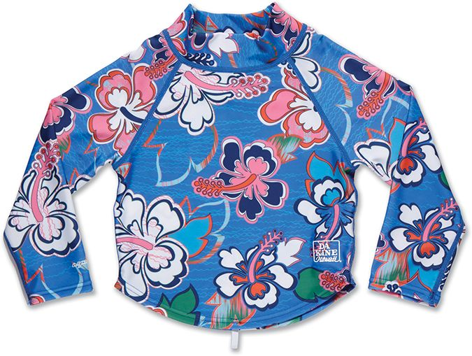 Dakine Girls Toddler LS Rashguard Ocean Flower-30