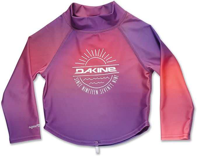 Dakine Girls Toddler LS Rashguard Pink Sunset-30