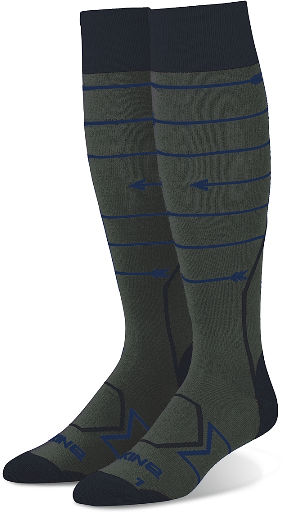 Dakine Mens Thinline Sock Charcoal-30