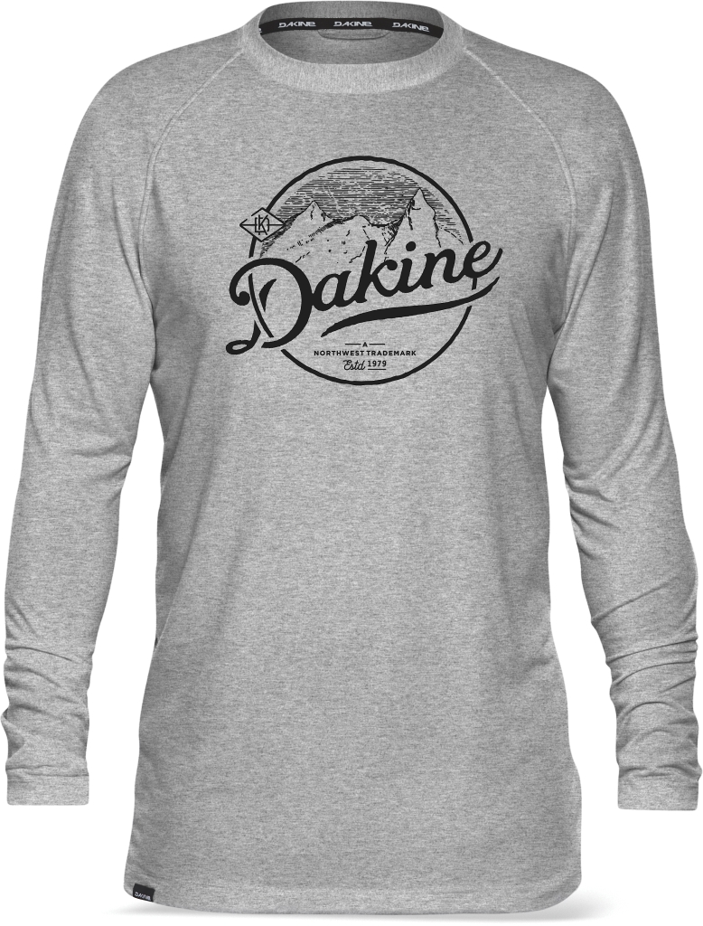 Dakine Ls Tech Tee Heathered Grey Peaks-30