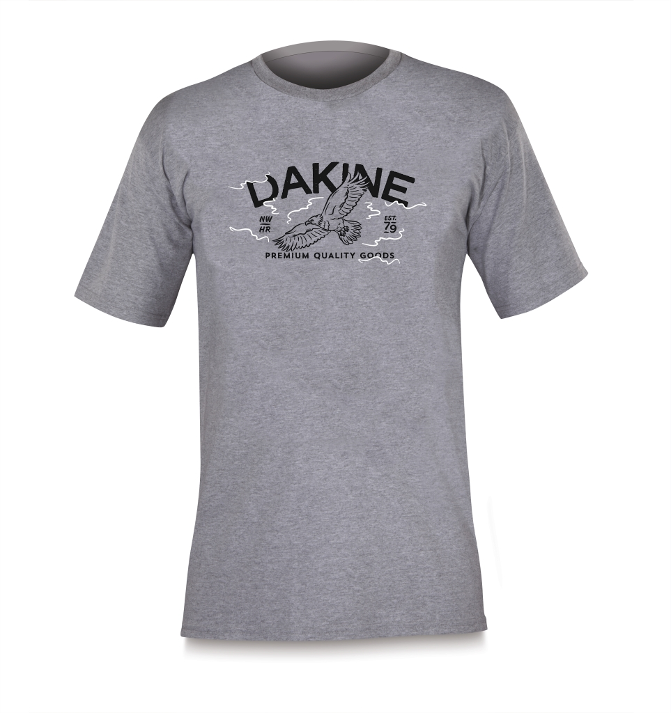 Dakine S/S Tech T Heathered Grey Eagle-30