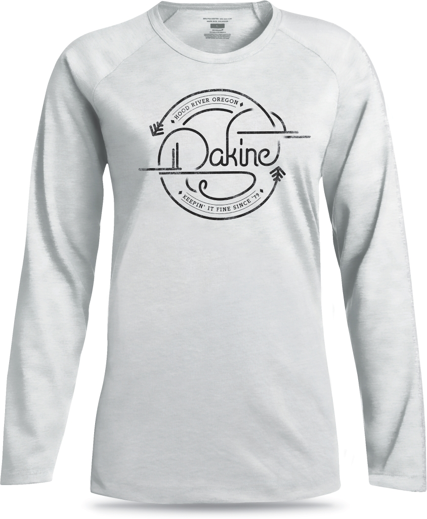 Dakine Womens LS Tech Tee White Label-30