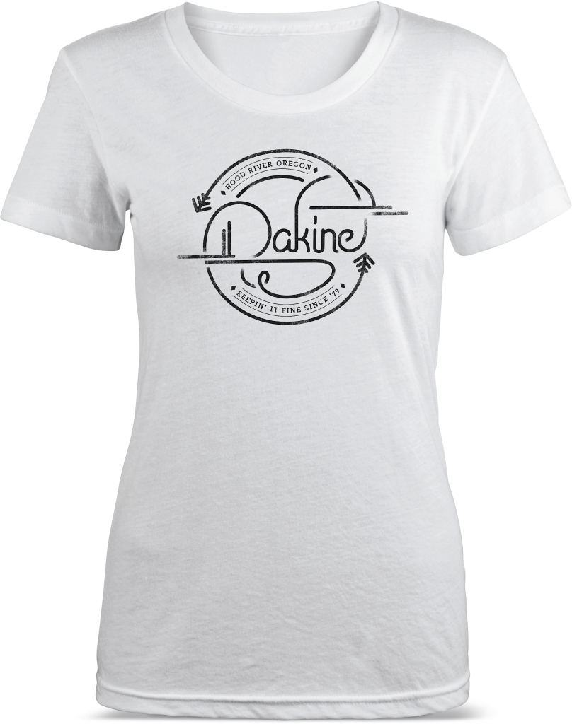 Dakine Womens SS Tech Tee White Logo-30