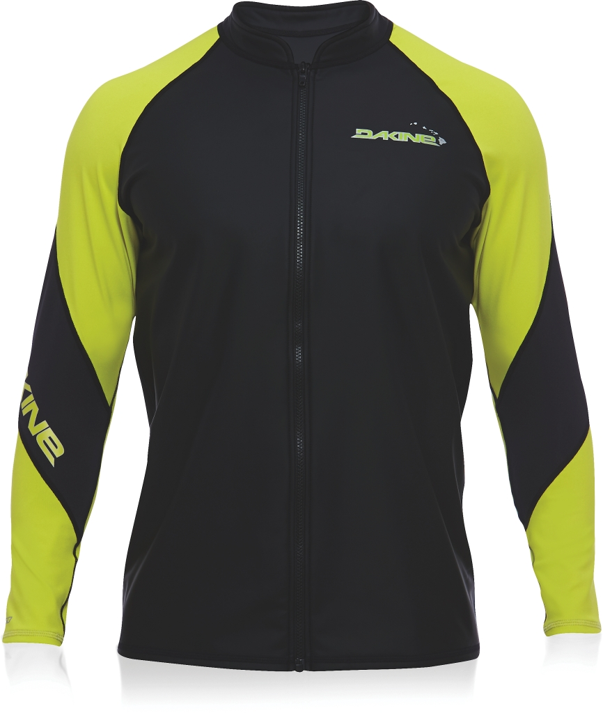 Dakine Mens Furnace L/S Front Zip Jacket Black / Citron-30