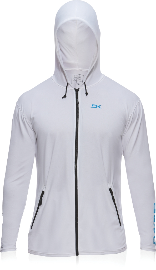Dakine Mens H2o-Man L/S Front Zip Hoodie (LOOSE White-30