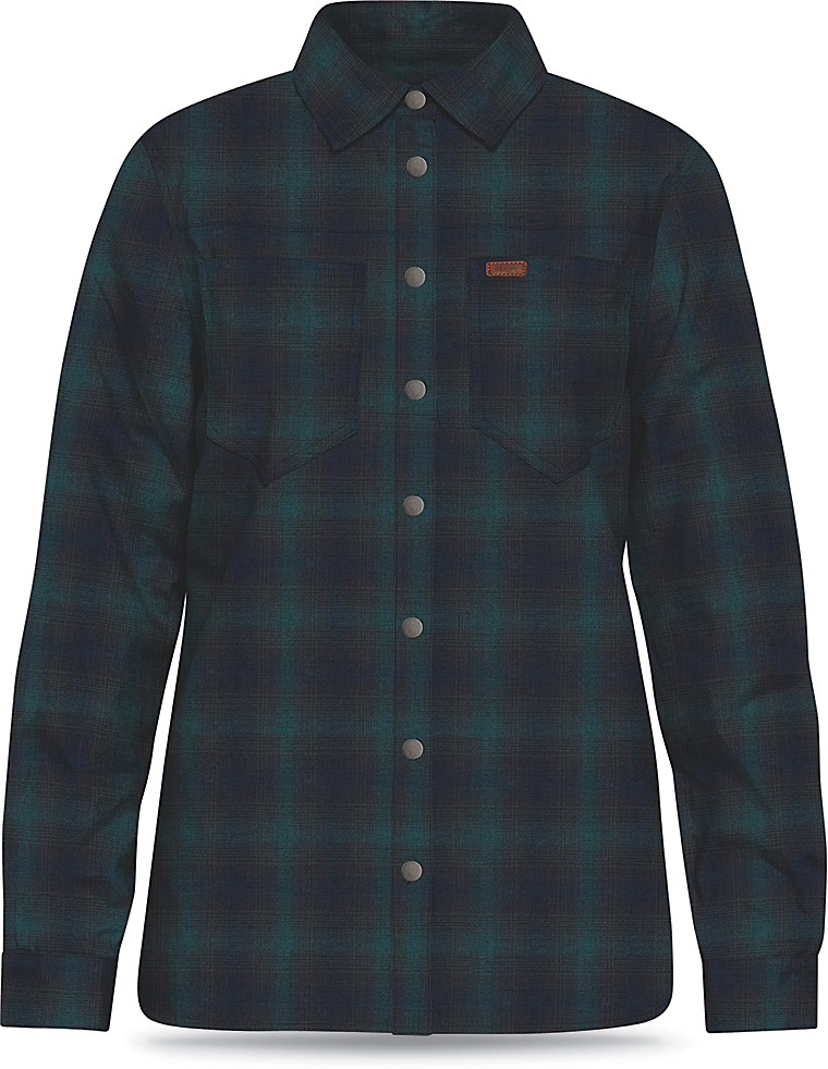 Dakine Womens Westridge Flannel Jacket Shadow / Midnight-30