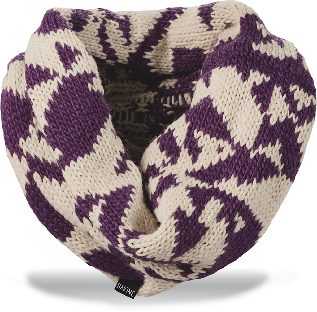 Dakine Ginger Cowl Scarf Turtledove / Dark Purple-30