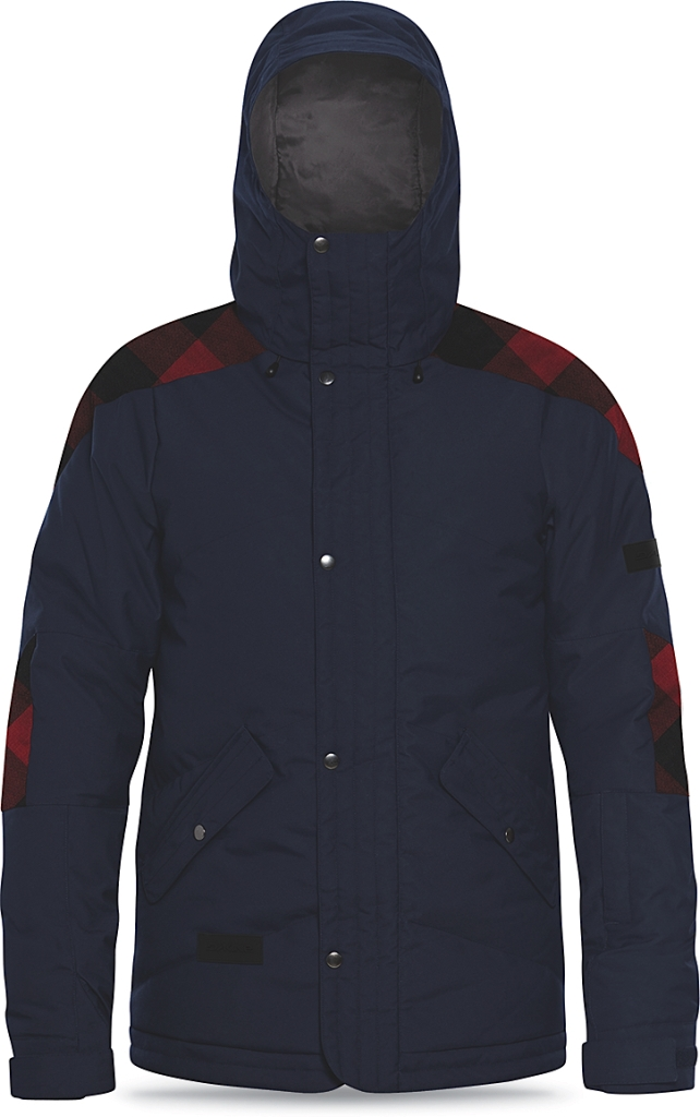 Dakine Mens Six-Fifty Down Jacket Midnight / Red Check-30