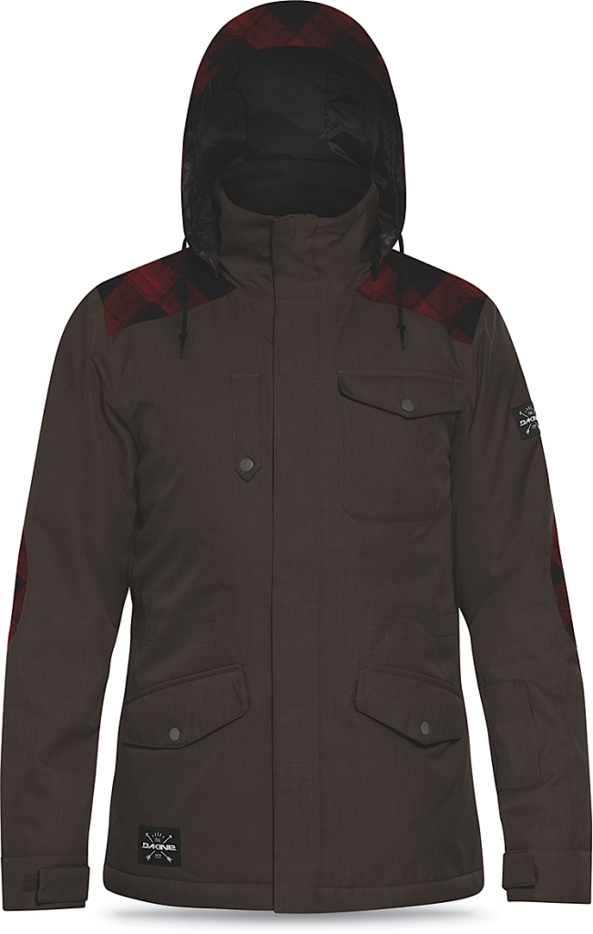Dakine Mens Intruder Jacket Coffee / Red Check-30