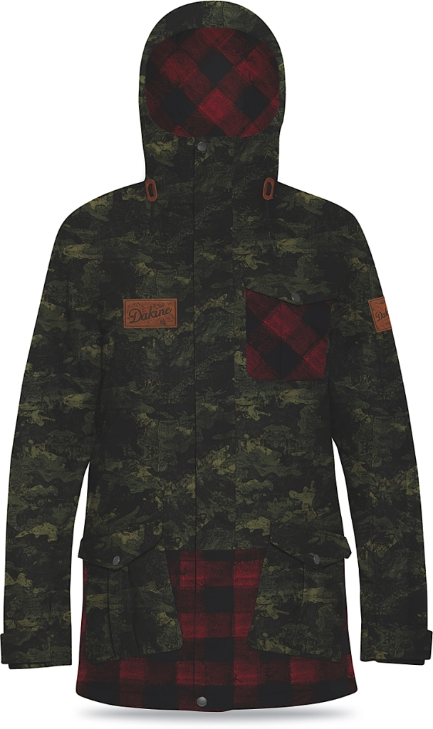 Dakine Mens Rampart 65 Jacket Peat Camo / Red Check-30