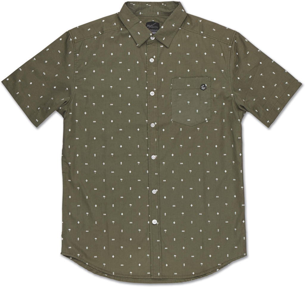 Dakine Backyard Short Sleeve Olive-30