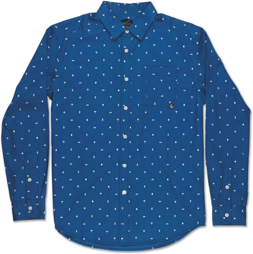 Dakine Backyard Long Sleeve Blue-30