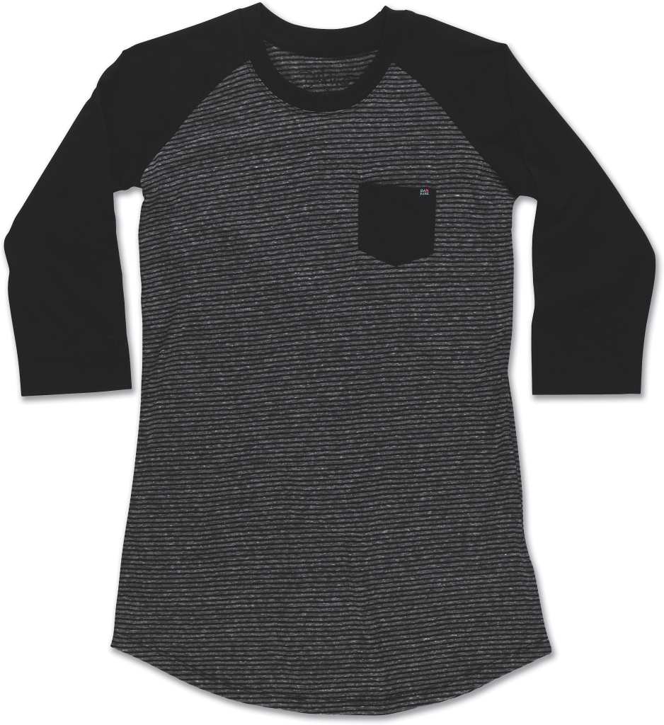 Dakine Baseball Tee Black Stripe-30
