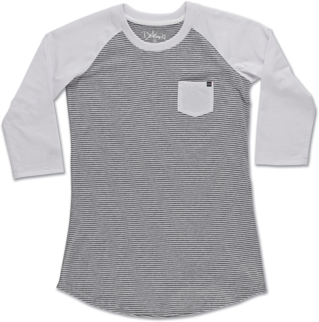 Dakine Baseball Tee White Stripe-30
