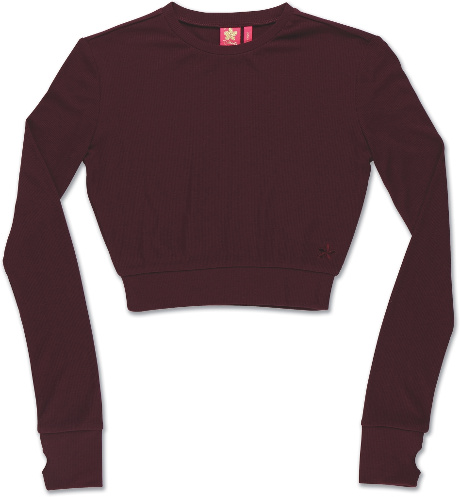Dakine Rib Crop Top Dark Cherry-30