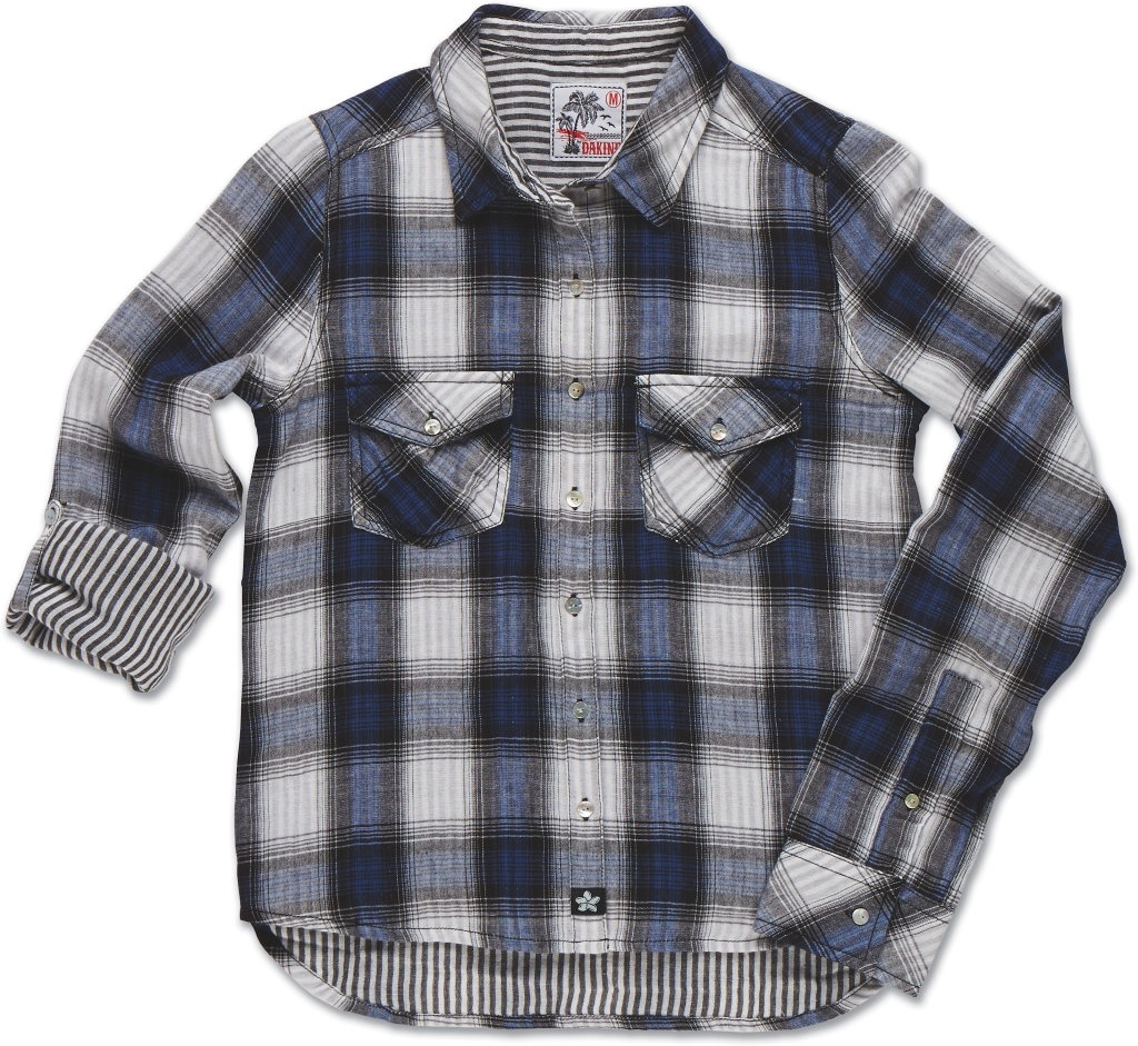 Dakine Maui Pocket Shirt Blue Jean Plaid-30