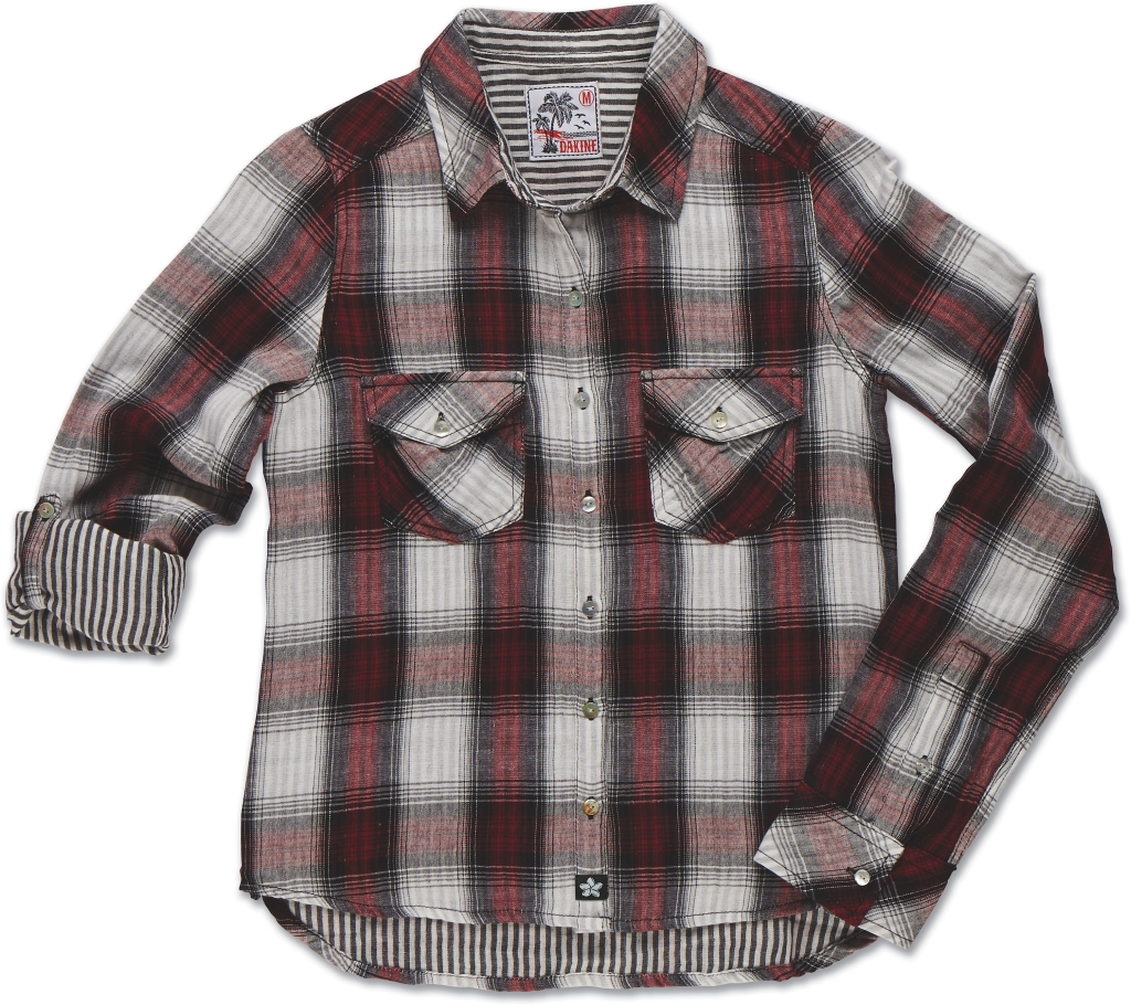 Dakine Maui Pocket Shirt Dark Cherry Plaid-30