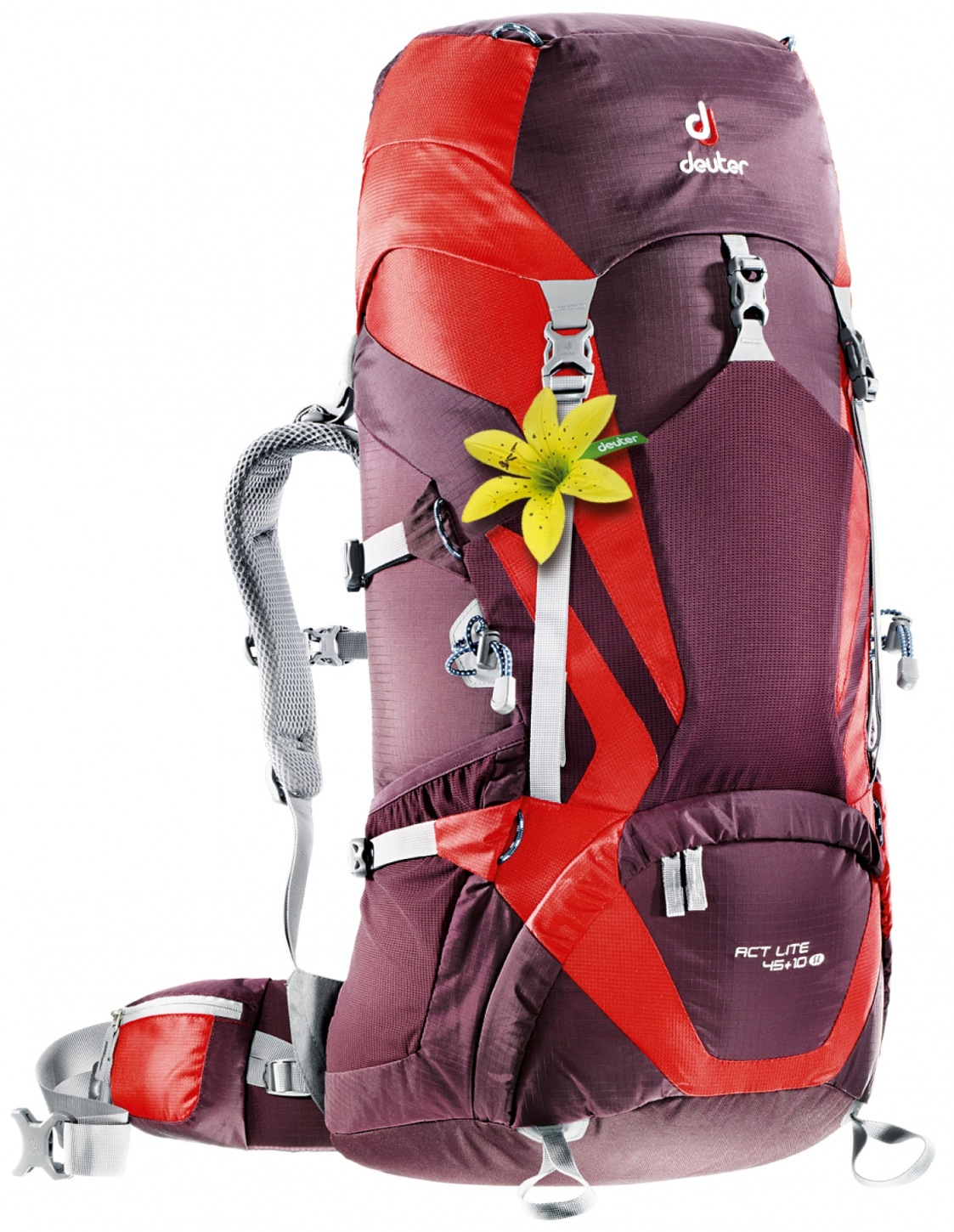 Deuter ACT Lite 45 + 10 SL aubergine-fire-30