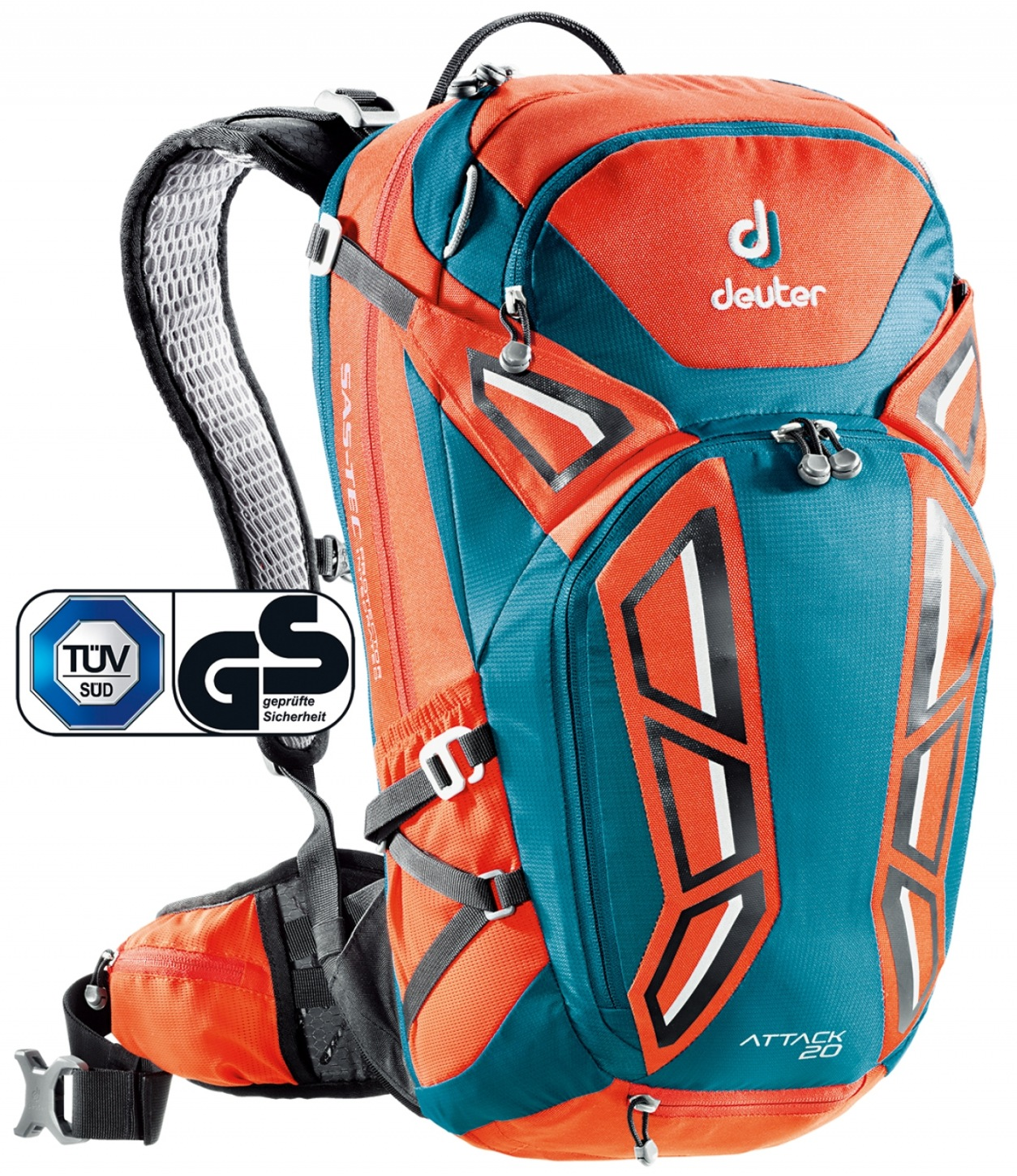 Deuter Attack 20 papaya-petrol-30