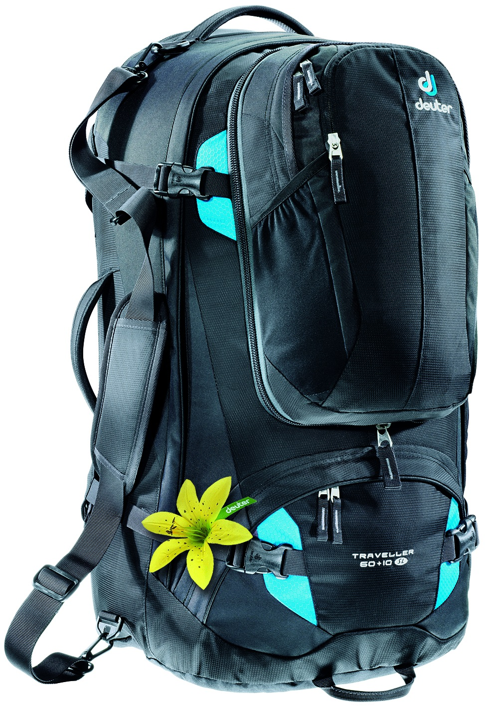 Deuter Traveller 60 + 10 SL black-turquoise-30