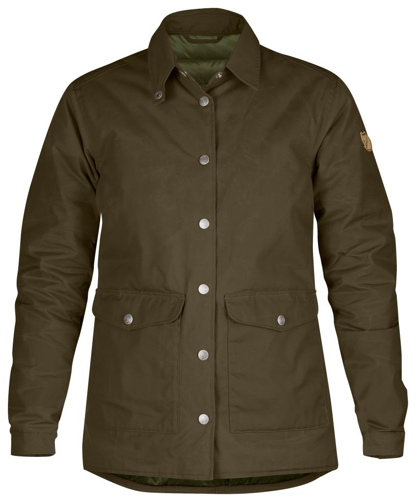 FjallRaven Down Shirt Jacket No.1 W Dark Olive-30