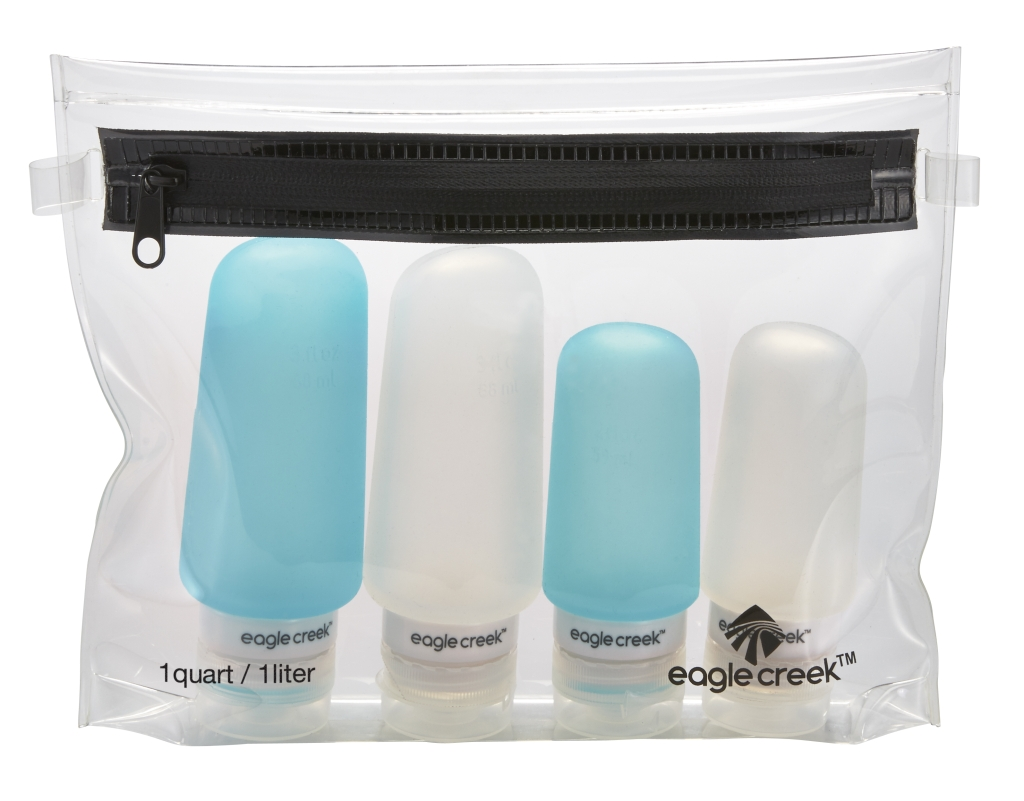 Eagle Creek Silicone Bottle Set clear/aqua-30