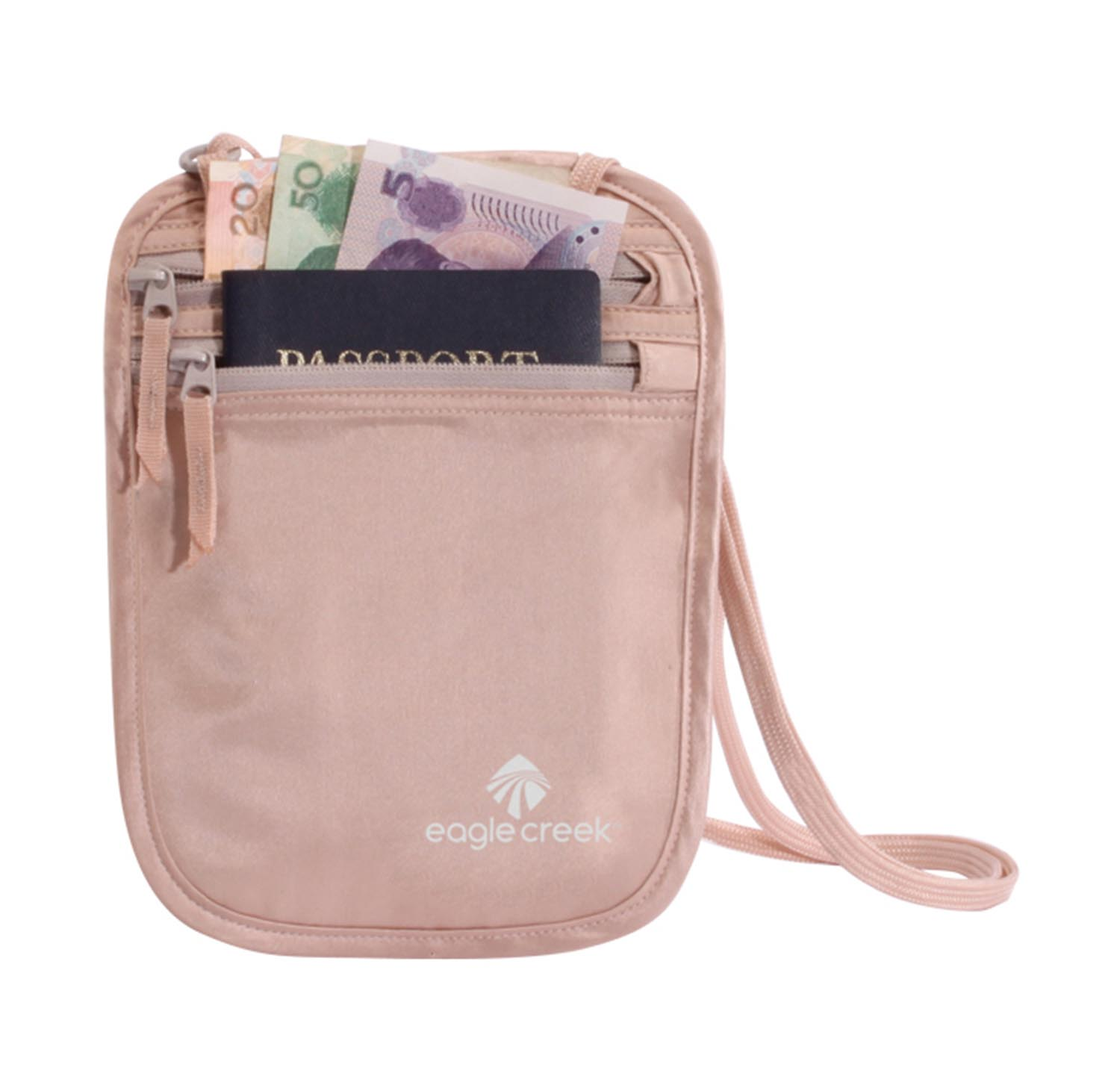 Eagle Creek Silk Undercover Neck Wallet Rose-30