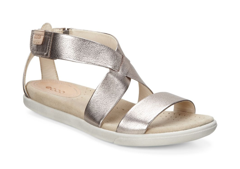 Ecco Damara Sandal Warm Grey Metallic-30