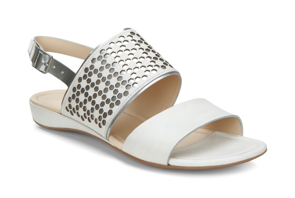 Ecco Bouillon Sandal II White/Silver Metallic-30