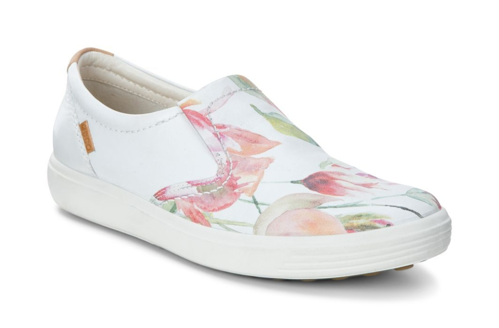 Ecco Soft 7 Ladies White Floral Print/White/Powder-30