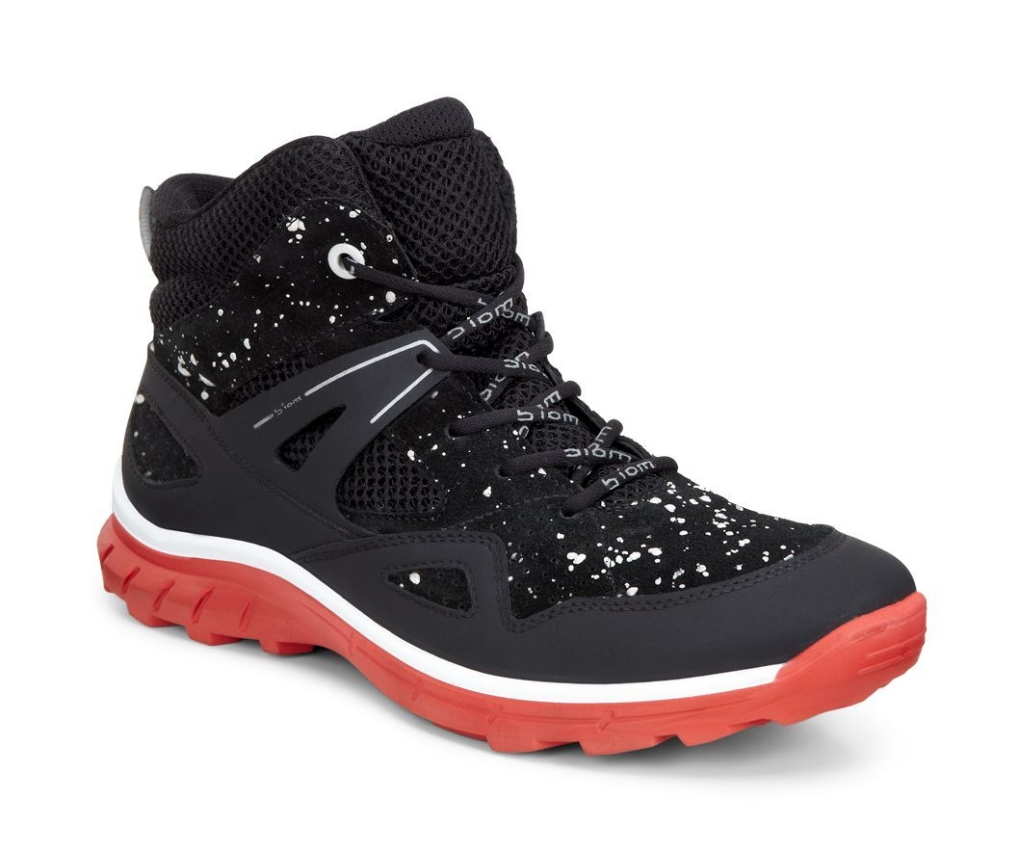 Ecco Biom Trail Kids Black/Black-White/Coral Blush-30