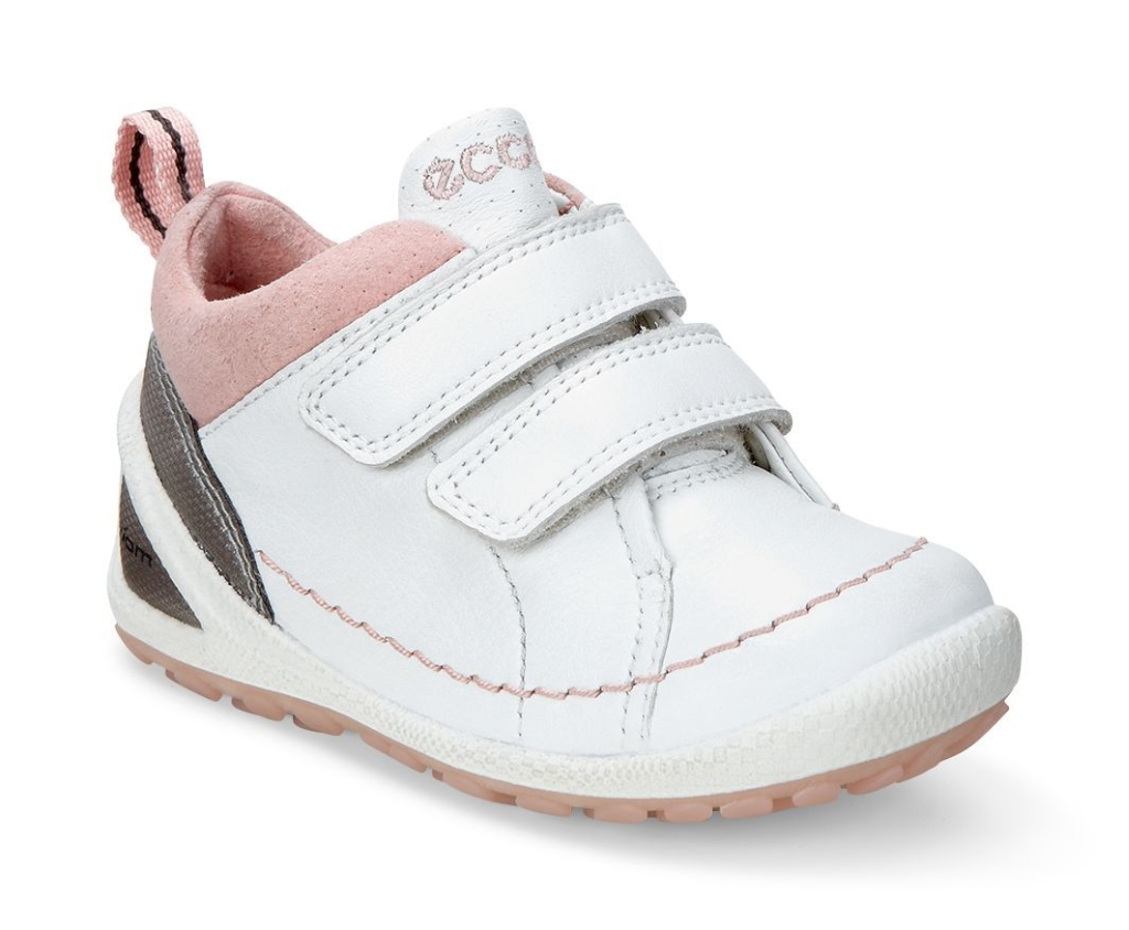 Ecco Lite Infants White/Silver Pink-30