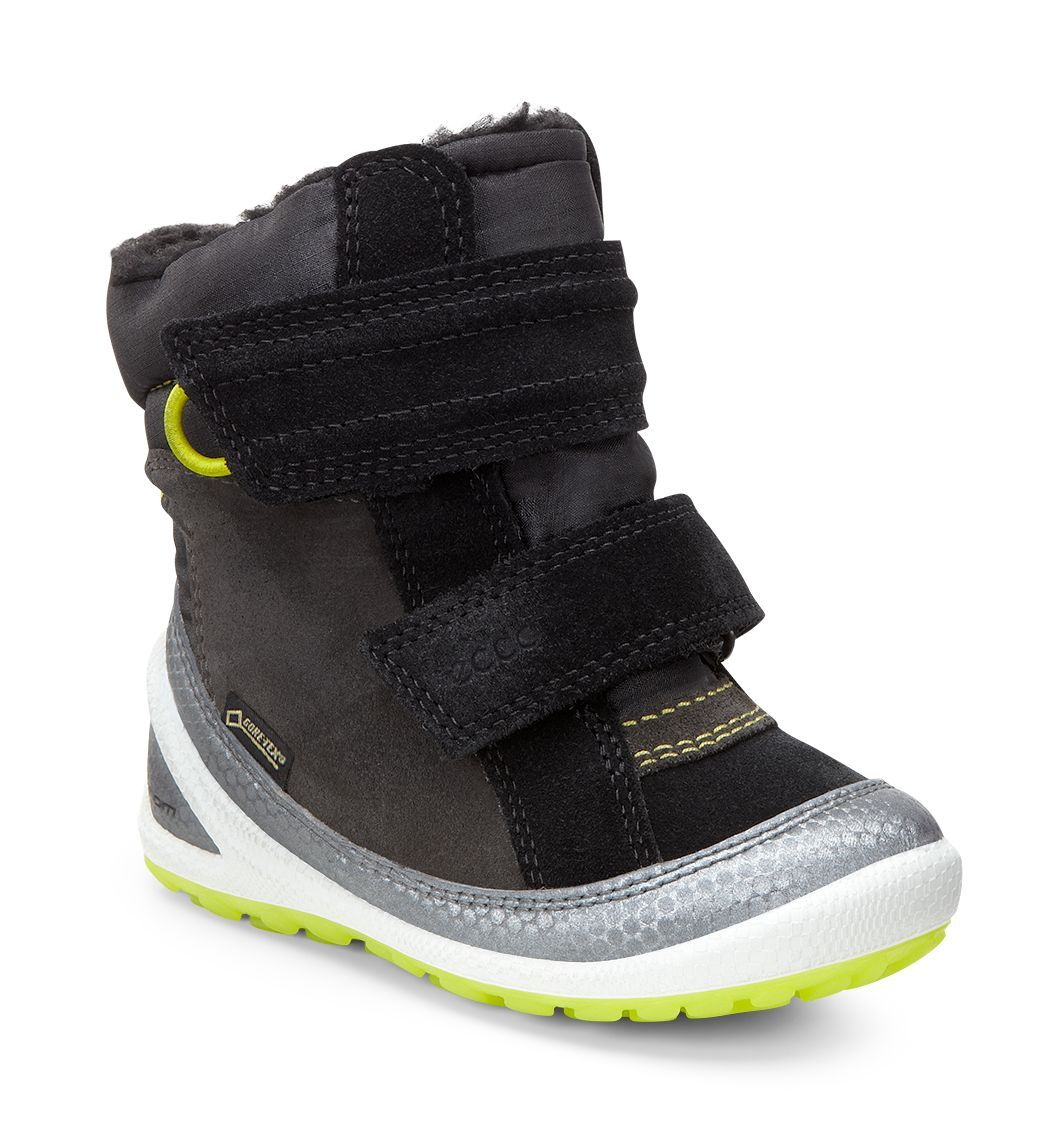 Ecco Kid´s Biom Lite Infants Boot Buffed Silver/Black/Dark Shadow-30