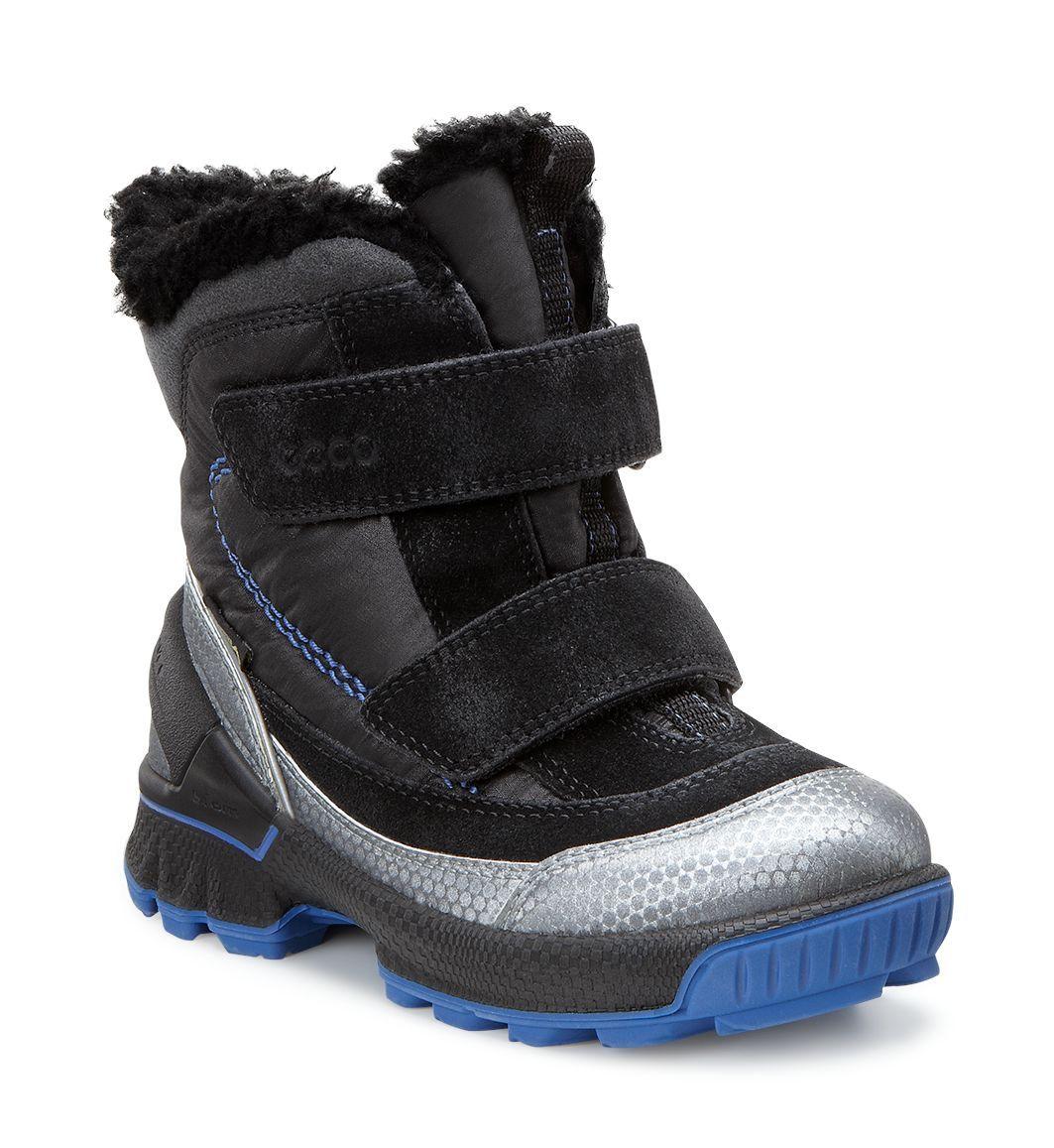Ecco Kid´s Biom Lite Infants Boot Buffed Silver/Black/Black-30
