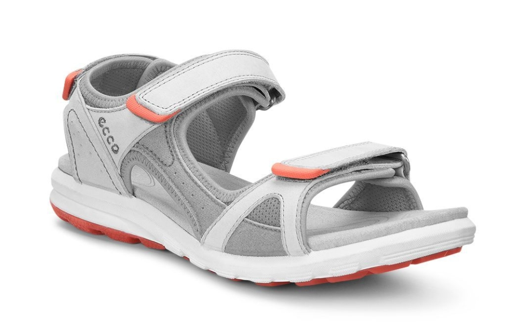 Ecco Cruise Ladies Shadow White/Silver Grey/Coral-30