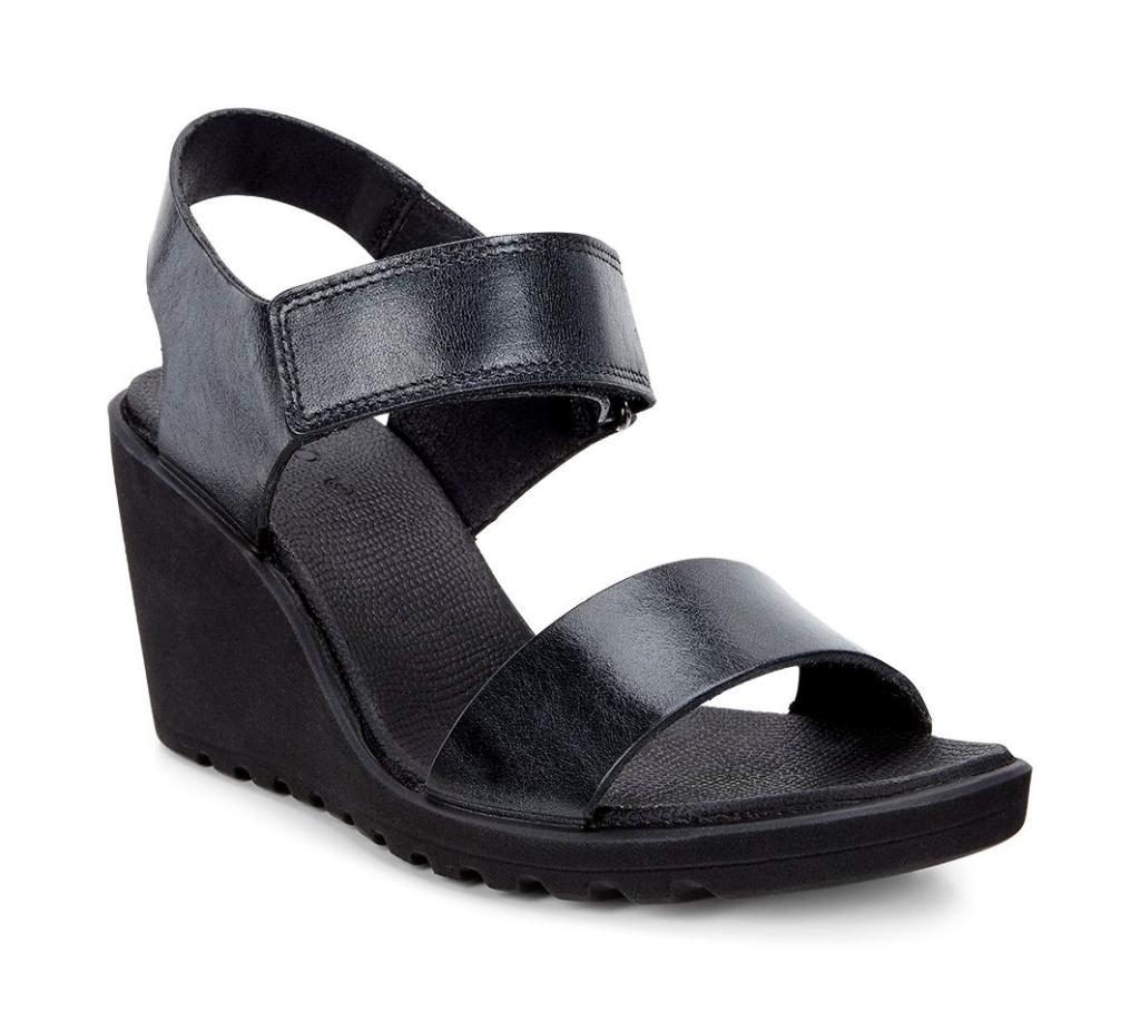 Freja Wedge Sandal Black-30