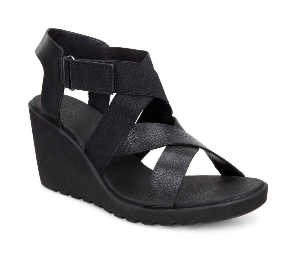 Ecco Freja Wedge Sandal Black-30