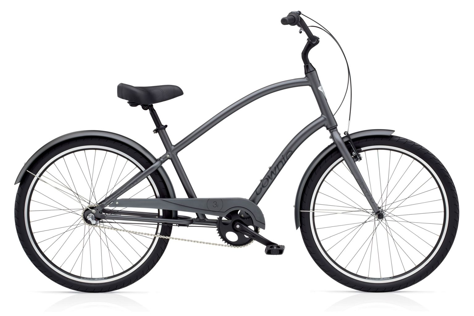 Electra Townie Original 3i Mens Satin Graphite-30