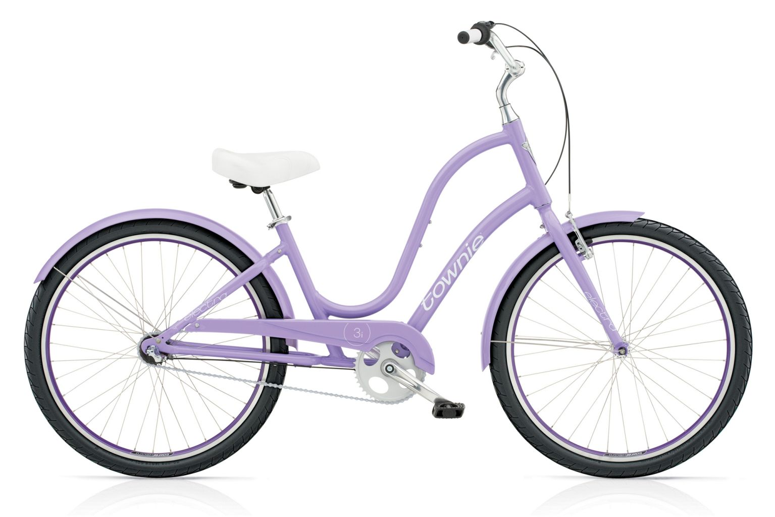 Electra Townie Original 3i Ladies Lilac-30