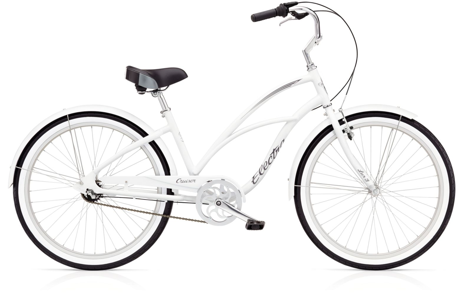 Electra Cruiser Lux 3i Ladies White-30