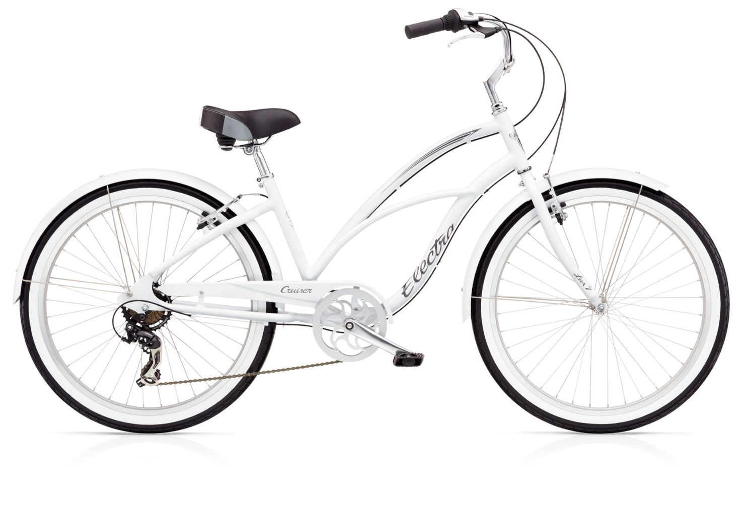 Electra Cruiser Lux 7d Ladies White-30