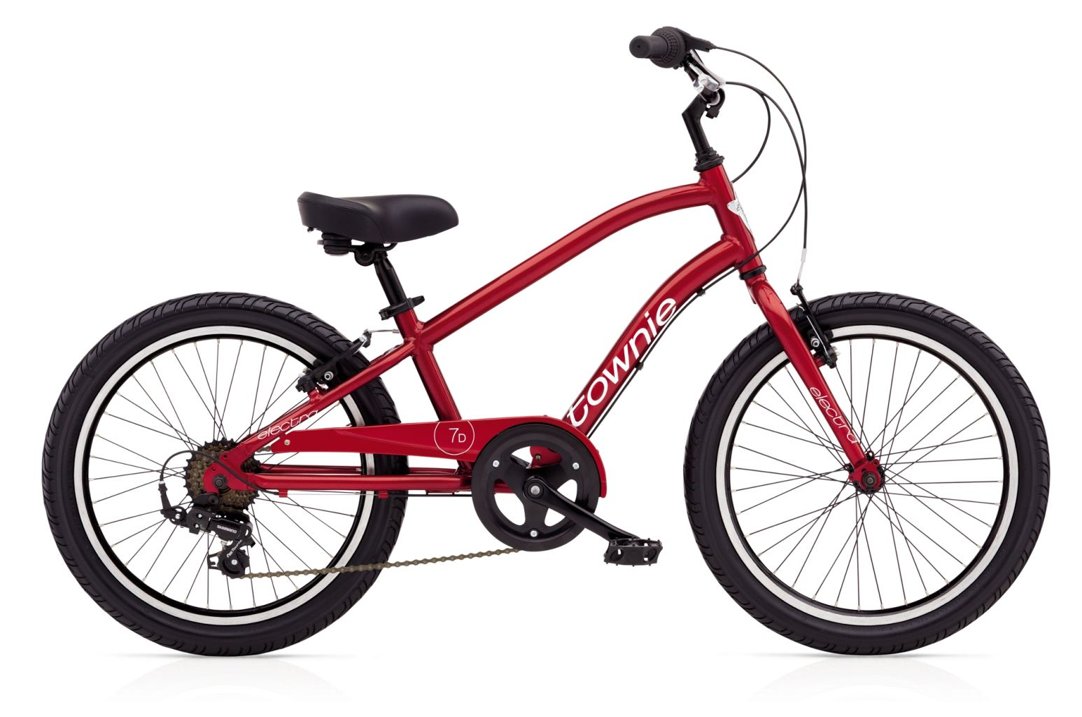 Electra Townie 7D 20in Boys Electric Red-30