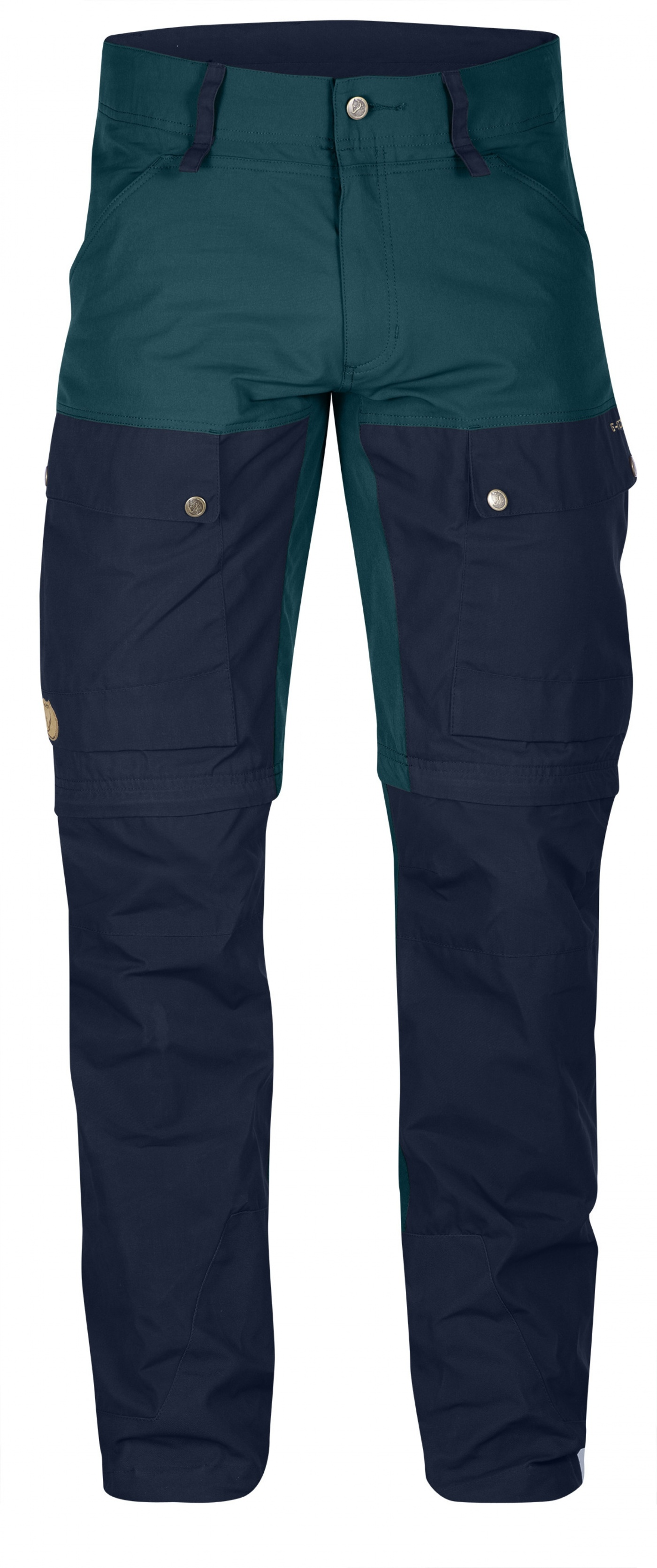 FjallRaven Keb Gaiter Trousers Regular Glacier Green-Dark Navy-30