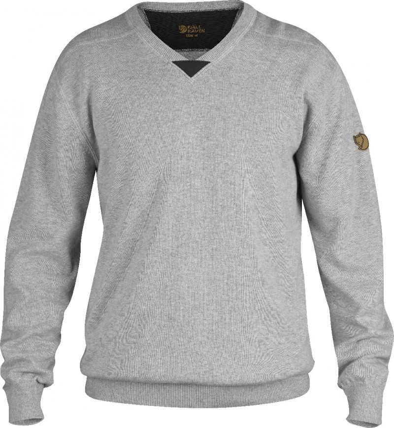 FjallRaven Woods Summer Sweater Light Grey-30