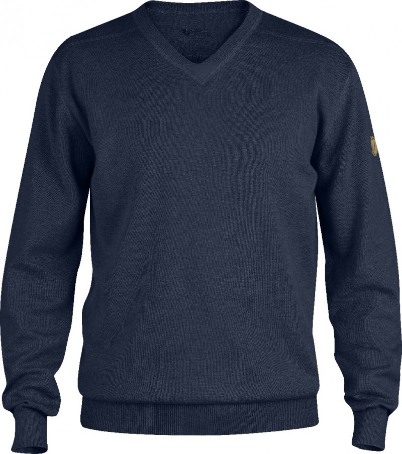 FjallRaven Woods Summer Sweater Dark Navy-30
