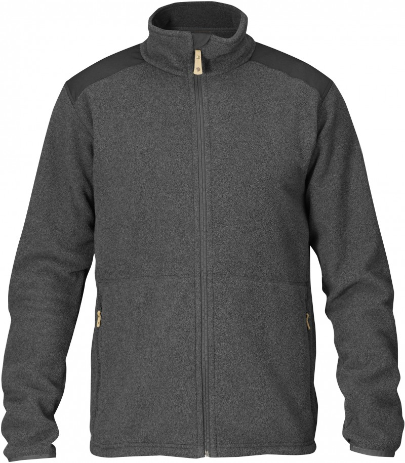 FjallRaven - Sten Fleece Dark Grey - Fleece Jackets - M